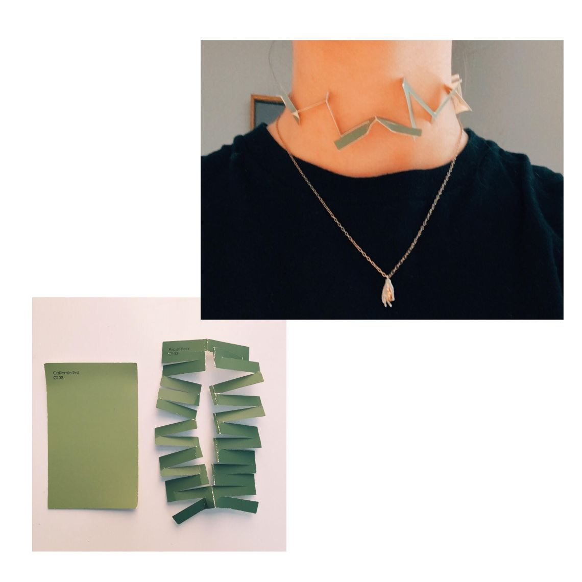 Paint Swatch Necklace:Choker